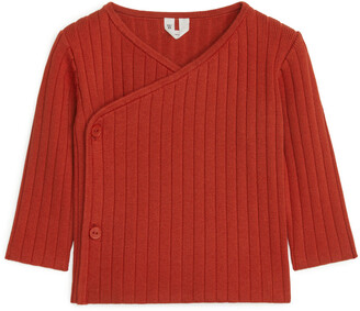 Arket Pima Cotton Wrap Cardigan