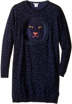 Little Marc Jacobs Knitted Leopard Frange Style All Over Printed Dress (Big Kids)