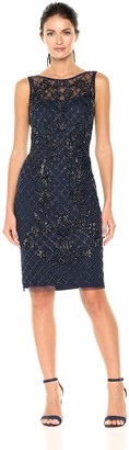 Adrianna Papell Women's Sleeveless Bead Dress