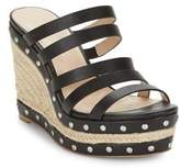 Charles by Charles David Loyal Studded Leather Espadrille Wedges