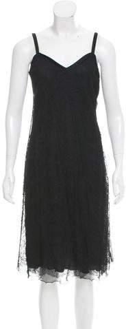 Giorgio Armani Lace Flounce Dress