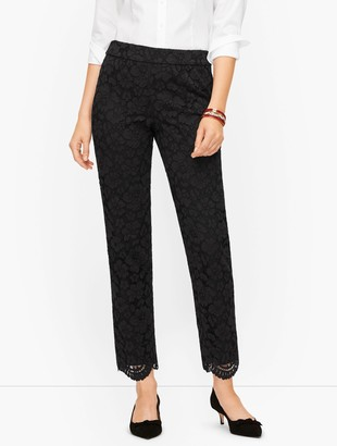 Talbots Tailored Ankle Pants - Floral Lace