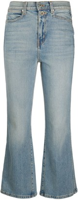 Proenza Schouler White Label Cropped Boocut Jeans