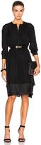 Nili Lotan Silk Tuxedo Dress