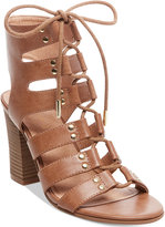 Madden-Girl Nyles Lace-Up Block-Heel Sandals