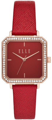 Elle Clichy Red Analogue Watch