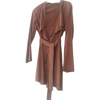 Sylvie Schimmel Camel Suede Coat for Women