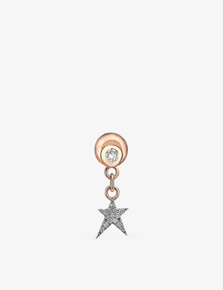 THE ALKEMISTRY Kismet by Milka Star Struck 14ct rose-gold and 0.08ct diamond earring
