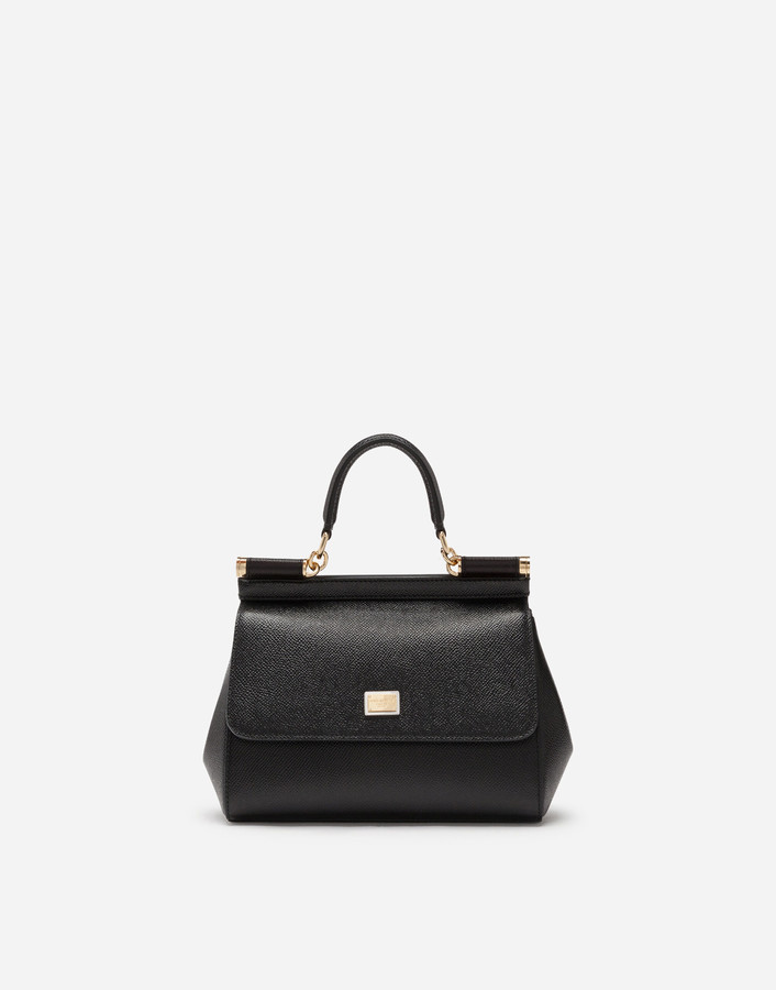 Dolce & Gabbana Small Dauphine Leather Sicily Bag
