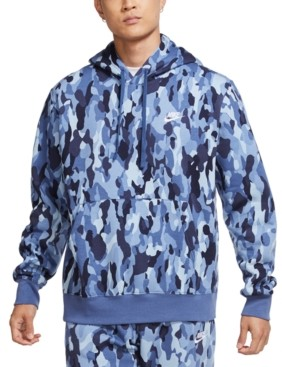 Nike Men's Sportswear Club Fleece Camo Hoodie
