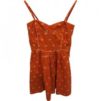 Orla Kiely Orange Cotton Dress for Women