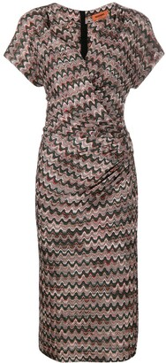 Missoni Zigzag Wrap Midi-Dress