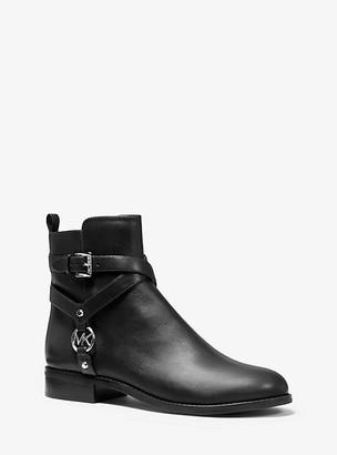 Michael Kors Preston Leather Ankle Boot