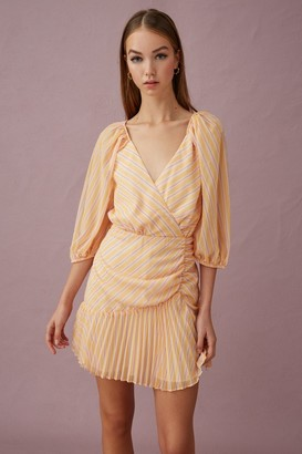 Keepsake CUPID MINI DRESS Yellow Stripe