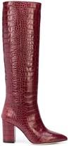 Paris Texas crocodile embossed knee-high boots