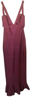 House Of CB Burgundy Synthetic Dresses