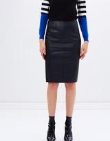 Karen Millen Faux-leather pencil skirt