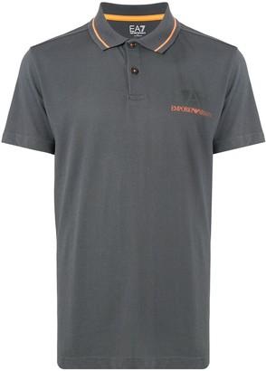 EA7 Emporio Armani Printed Logo Polo Shirt