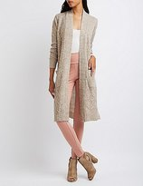Charlotte Russe Cable Knit Duster Cardigan