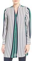 Foxcroft Petite Women's Bold Stripe Tunic