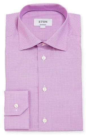 Eton Checked Cotton Dress Shirt