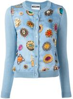 Moschino jewel print cardigan