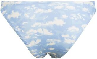 HVN Cloud-Print Bikini Bottoms