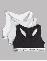 Autograph 3 Pack Cotton Crop Tops with Stretch (6-16 Years)