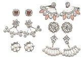 Charlotte Russe Embellished Ear Jacket & Stud Earrings Set