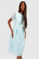 boohoo Zaira Boutique Full Skirted Prom Midi Dress