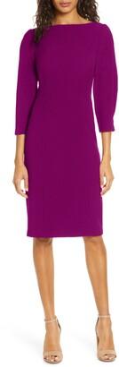 Brinker & Eliza Pleated Sleeve Sheath Dress