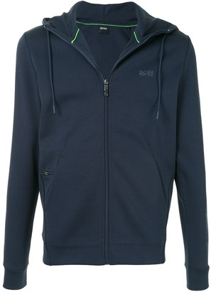 HUGO BOSS Zip-Up Drawstring Hoodie