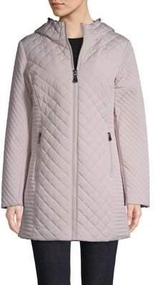 Calvin Klein Quilted Zip-Front Jacket