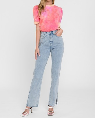 Express English Factory High Waisted Wide Leg Jeans