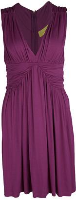 Catherine Malandrino Pink Jersey Gathered Sleeveless Dress S