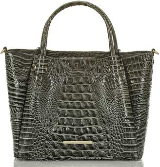 Brahmin Small Mallory Croc Embossed Leather Satchel