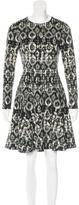 Lela Rose Reversible Patterned Dress