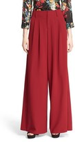 Alice + Olivia Women's 'Eloise' Pleated Wide Leg Trousers