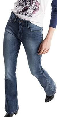 H.I.S Women's Sunny Bootcut Jeans, (Premium Medium Blue Wash 9383)