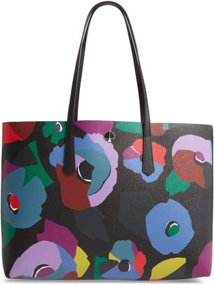 Kate Spade Large Molly Floral Collage Leather Tote