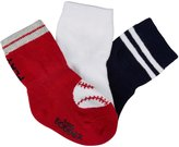 Robeez 3 Pack Saturday Ball Socks (Baby) - Navy-12-24 Months