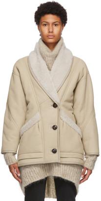 Isabel Marant Beige Audrina Coat