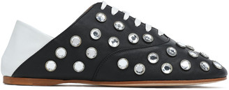 Acne Studios Convertible Crystal-studded Two-tone Leather Brogues