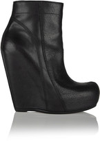Rick Owens Brushed-leather wedge boots