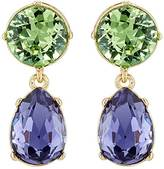 Kenneth Jay Lane WOMEN'S CRYSTAL-EMBELLISHED DOUBLE-DROP EARRINGS