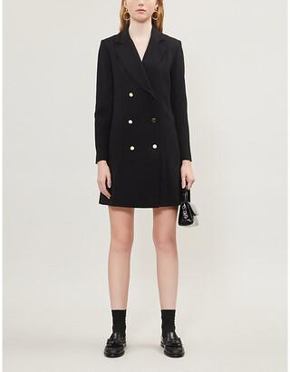Claudie Pierlot Mirrored-buttoned crepe blazer