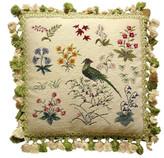 Petit Point Hkh International Garden Bird Pillow