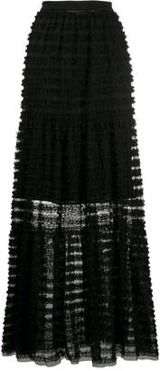Philosophy di Lorenzo Serafini Striped Sheer Skirt