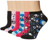 Betsey Johnson 6-Pack Embellished Low Cuts Women's Low Cut Socks Shoes