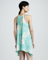 Jay Godfrey Printed Halter Cocktail Dress